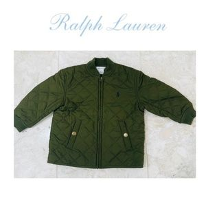 RALPH LAUREN 18M Toddler Barn Jacket Quilted Green
